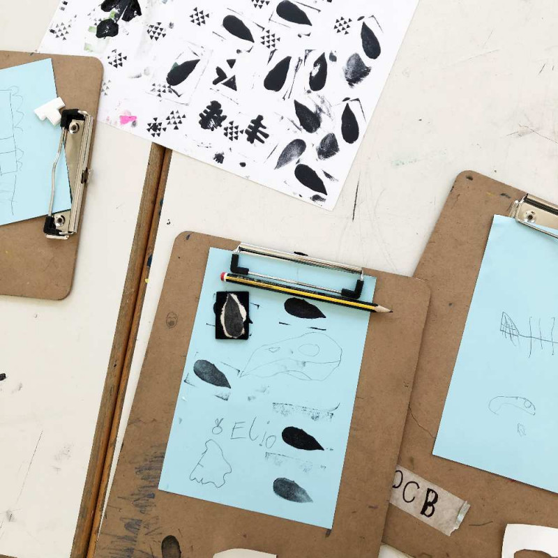 Druckproben von Stempeln auf Papier
